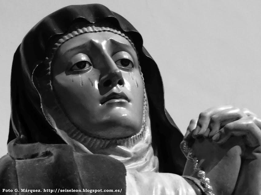 Virgen de la Amargura. Real cofradía de Minerva y Vera Cruz. León. Foto G. Márquez