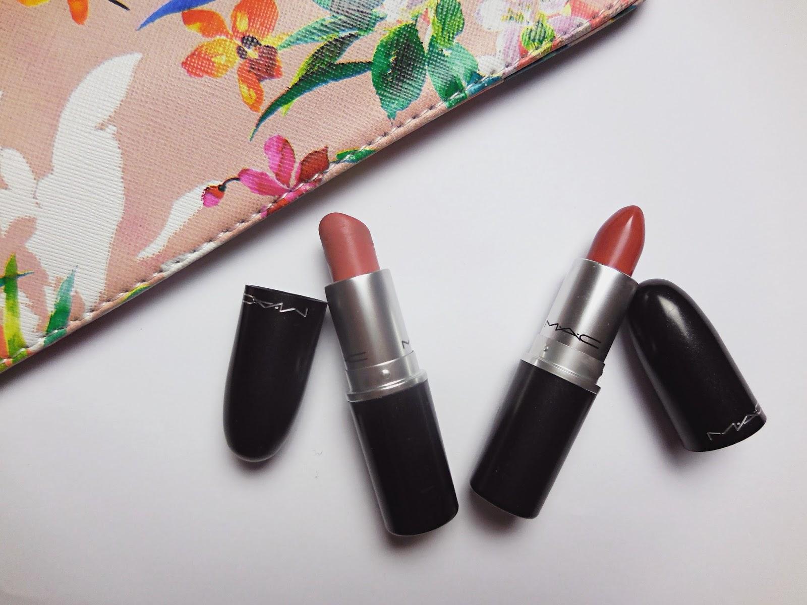 Mac Velvet Teddy Vs Mac Mocha Lipstick Makaloves