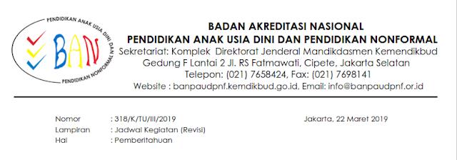 Pengumuman Seleksi Calon Asesor BAN PAUD dan PNF Tahap 1 dan 2 DITUNDA