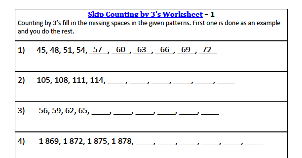 3rd grade math skip counting worksheets. Black Bedroom Furniture Sets. Home Design Ideas