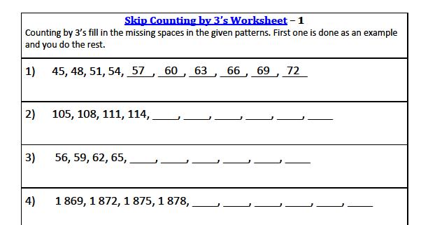 3rd grade math skip counting worksheets. Black Bedroom Furniture Sets. Home Design Ideas