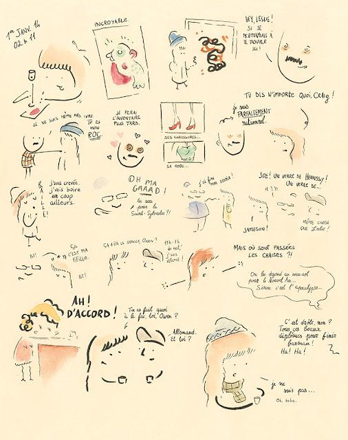 """page de """"Toutes mes nuits sans dormir"""" de Leslie Stein chez Delcourt"""