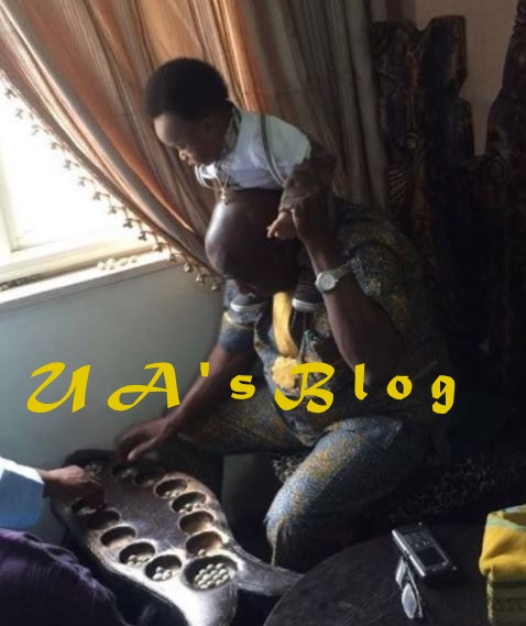 Obasanjo Spotted Carrying Tonto Dikeh's Son On His Neck (Photo