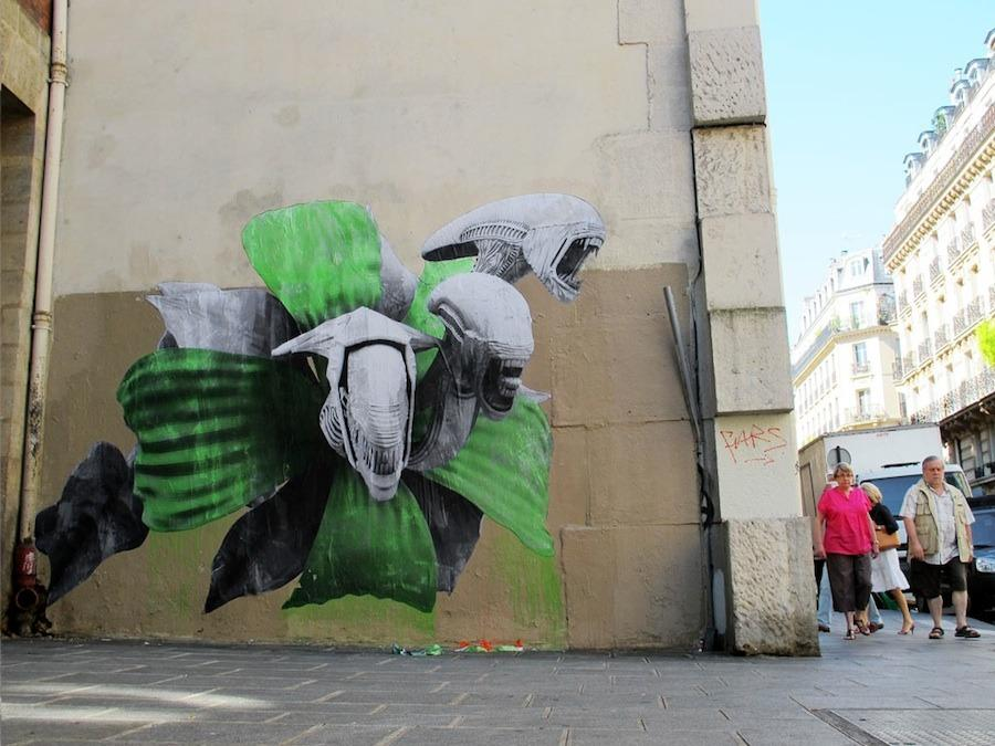 french street artist ludo paintings funnilogy. Black Bedroom Furniture Sets. Home Design Ideas