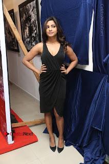 Telugu Actress Kamna Singh Stills in Black Dress at Bharat Thakur Art Exhibition Launch  0202.jpg