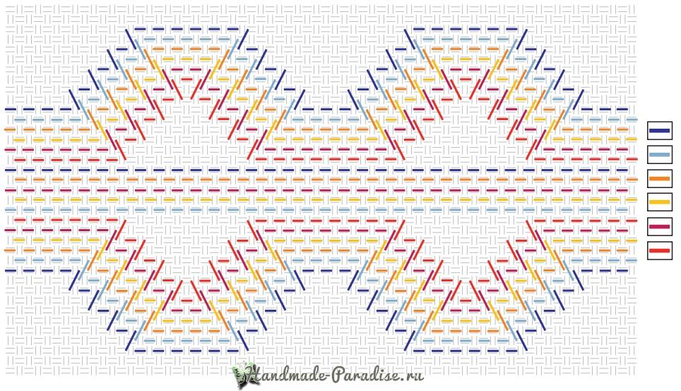 Схемы вышивки для декорирования полотенца (1)
