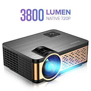 Smart WiFi 200 Projector Android Bluetooth Portable 3000 Lumens ...