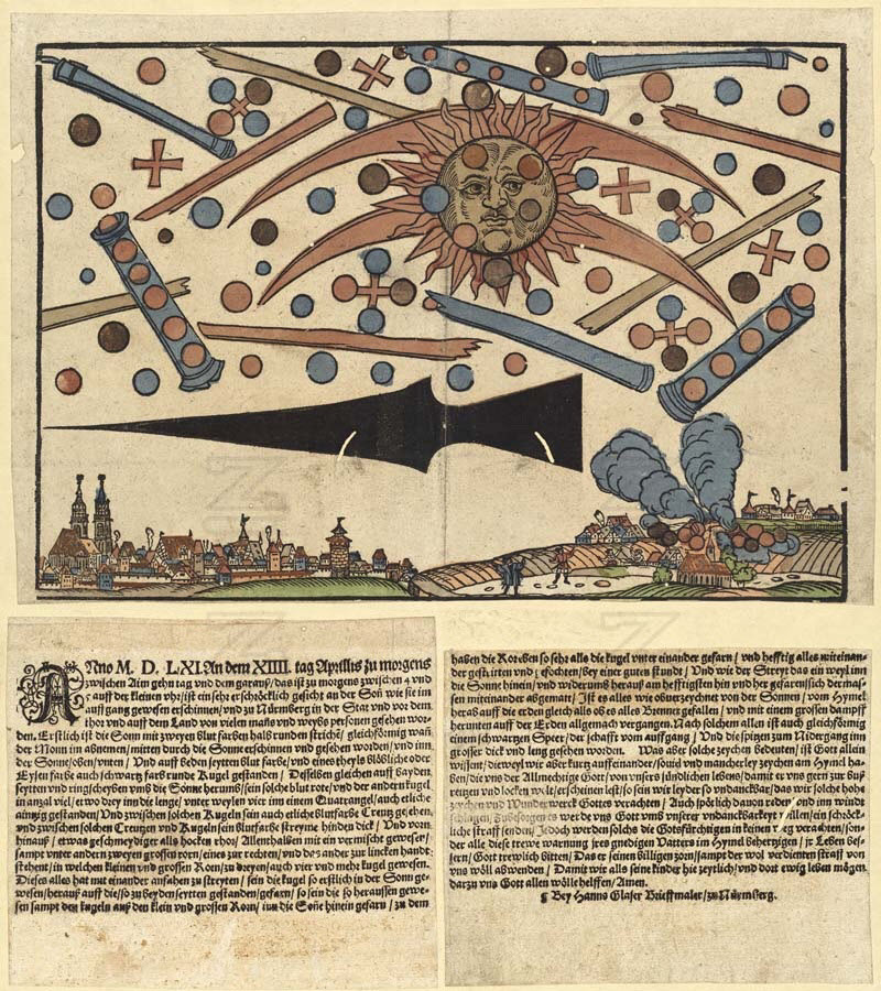1561 celestial phenomenon over Nuremberg