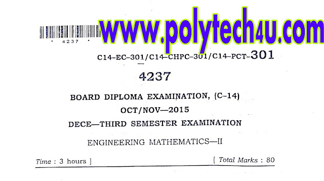 ENGINEERING MATHEMATICS-2 QUESTION PAPER