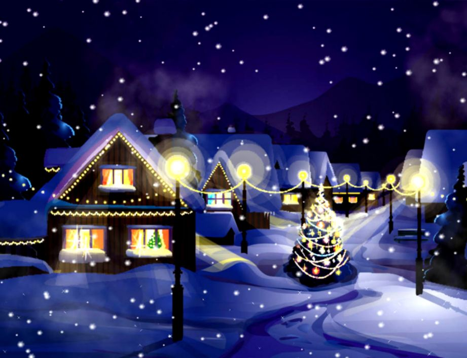 Animated Christmas Computer Wallpaper Background Wallpapers