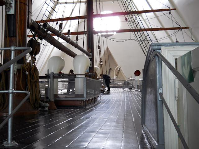 En el interior del barco Fram (Museo del Fram en Oslo)