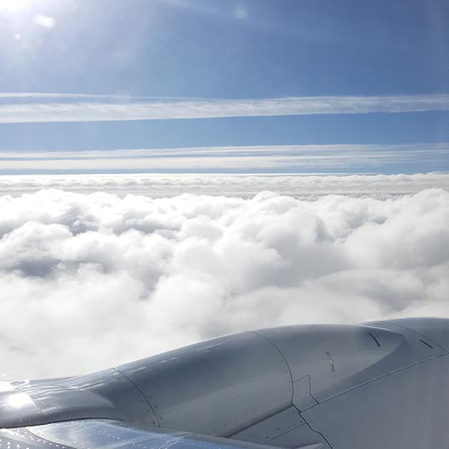 airplane, plane, Flugzeug, sky, clouds, Wolken, Himmel