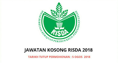 Permohonan Jawatan Kosong RISDA 2018