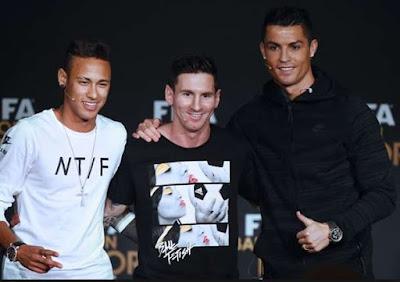 Neymar Akan Gantikan Nama Messi Dan Ronaldo
