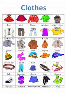 Materi bahasa inggris kelas 3 SD clothes