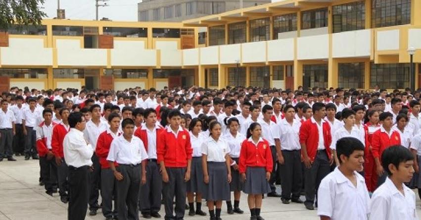 MINEDU: Formación en colegios no debe durar más de 15 minutos para proteger a escolares de radiación solar - www.minedu.gob.pe