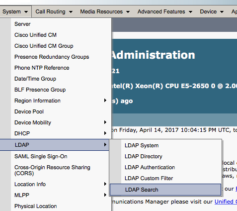 Cisco Unified Communications and Collaboration: LDAP Search with