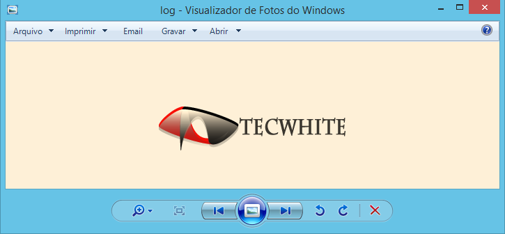 Visualizador de fotos do Windows com fundo amarelado