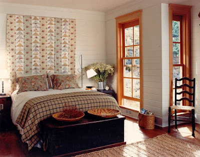 Bed headboards design with figures curtain