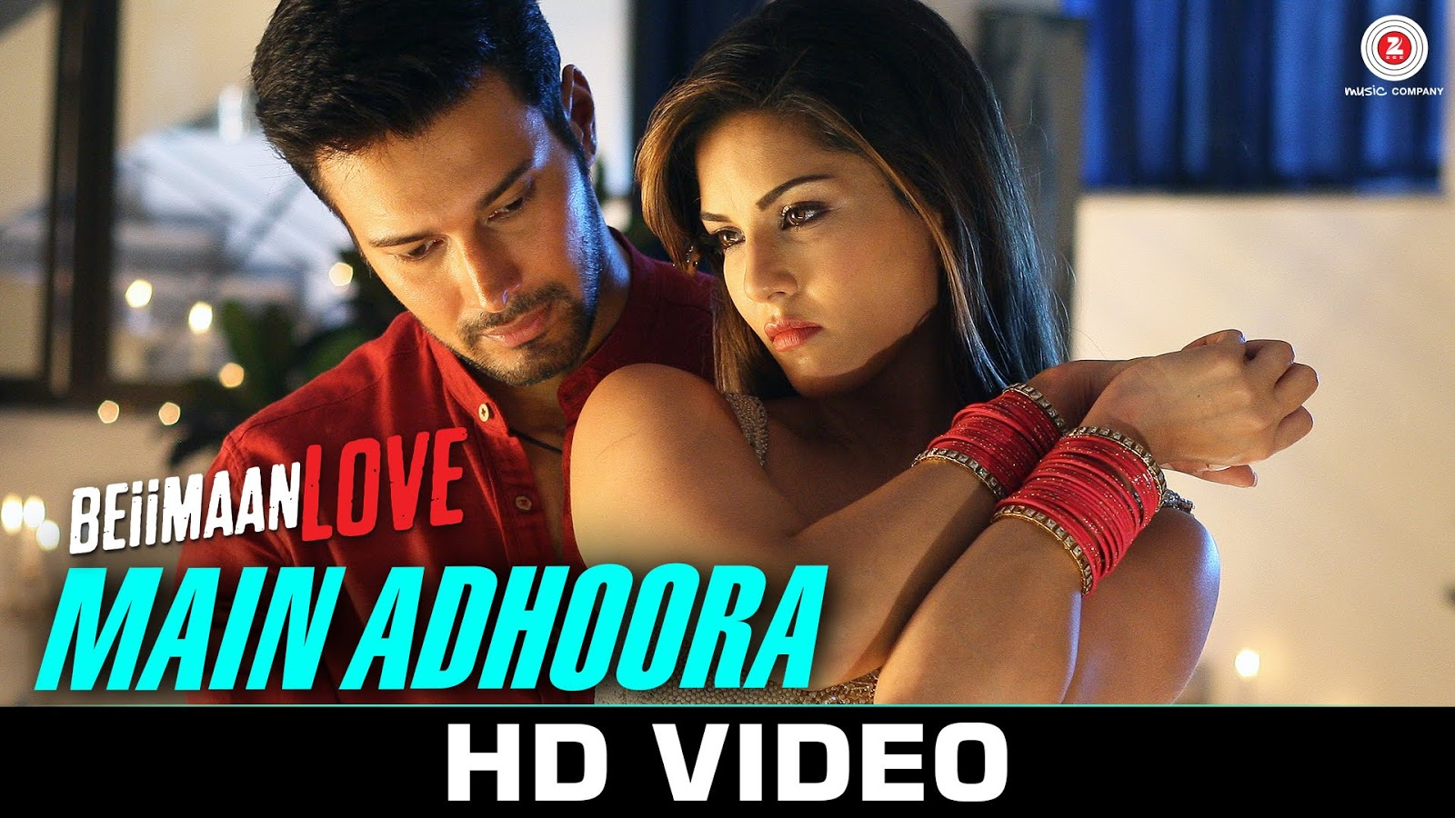 The Main Adhoora lyrics from 'Love Beiimaan', The song has been sung by Yaseer Desai, Aakanksha Sharma, . featuring Sunny Leone, Rajniesh Duggall, , . The music has been composed by Sanjeev-Darshan, , . The lyrics of Main Adhoora has been penned by Sameer Anjaan