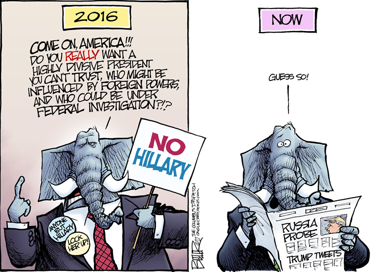 Republican Elephant in 2016, wearing