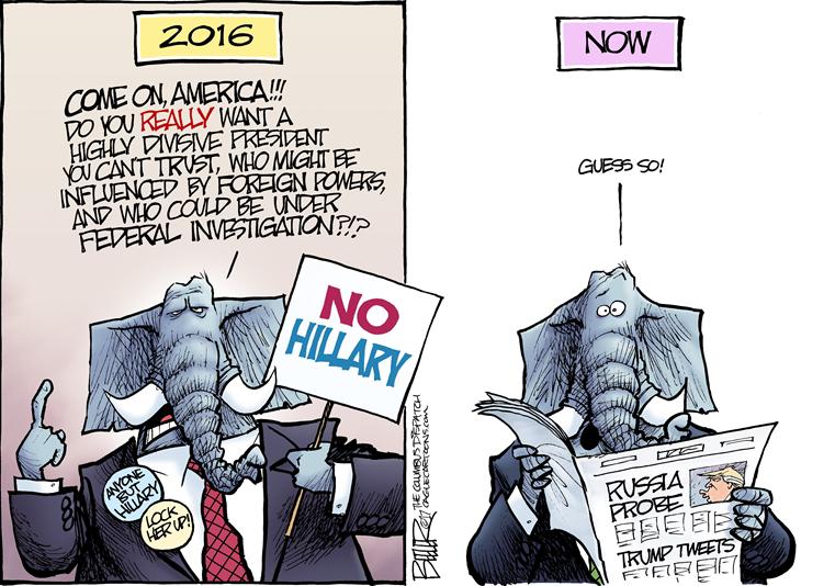 Republican Elephant in 2016, wearing