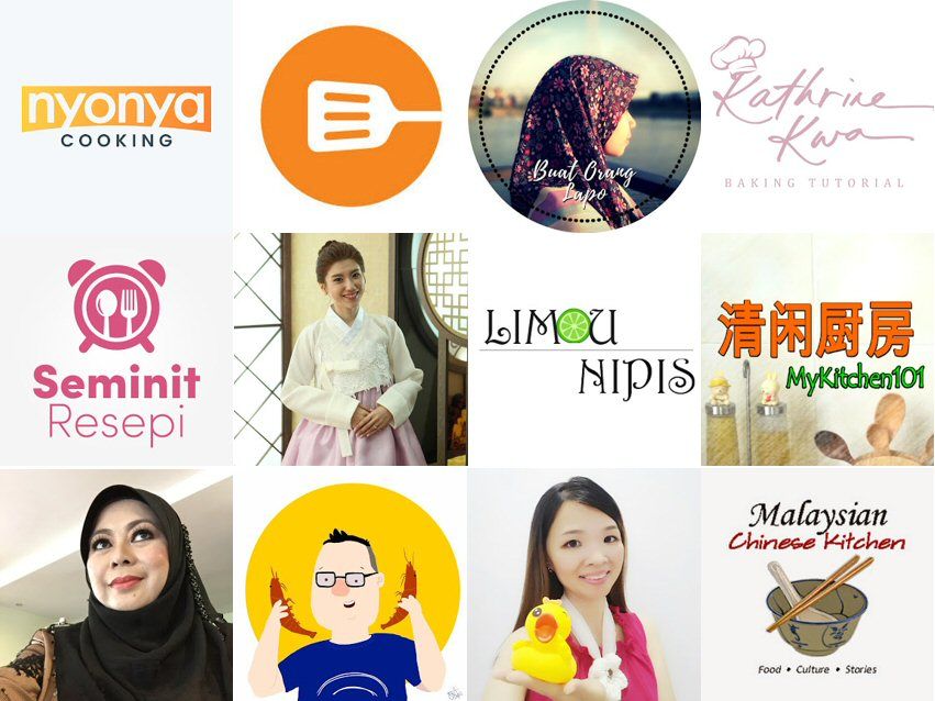 Top YouTube cooking channels in Malaysia