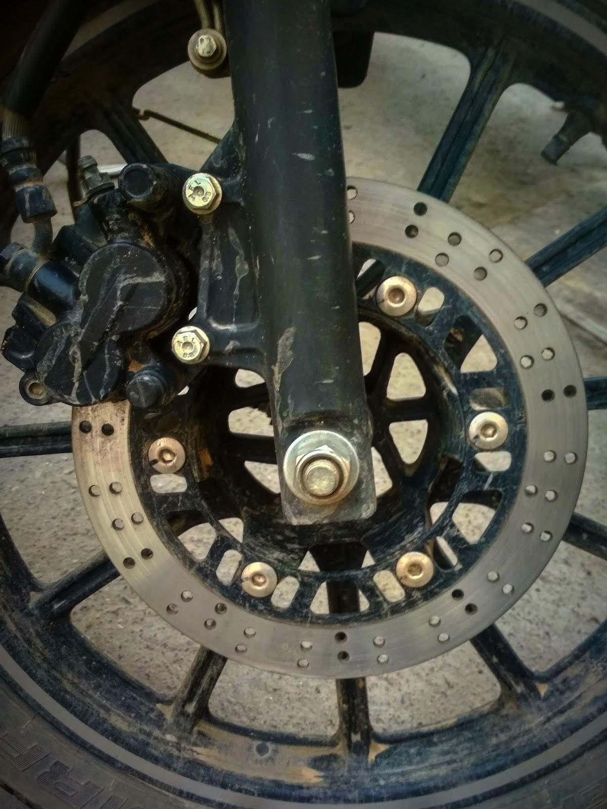 Holes on motorcycle disc brake