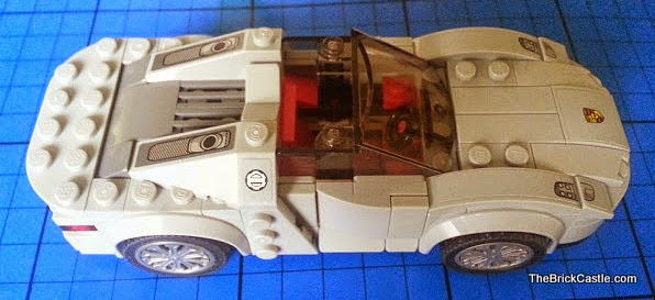 LEGO Porsche 918 Spyder 75910 Hybrid Supercar top down view