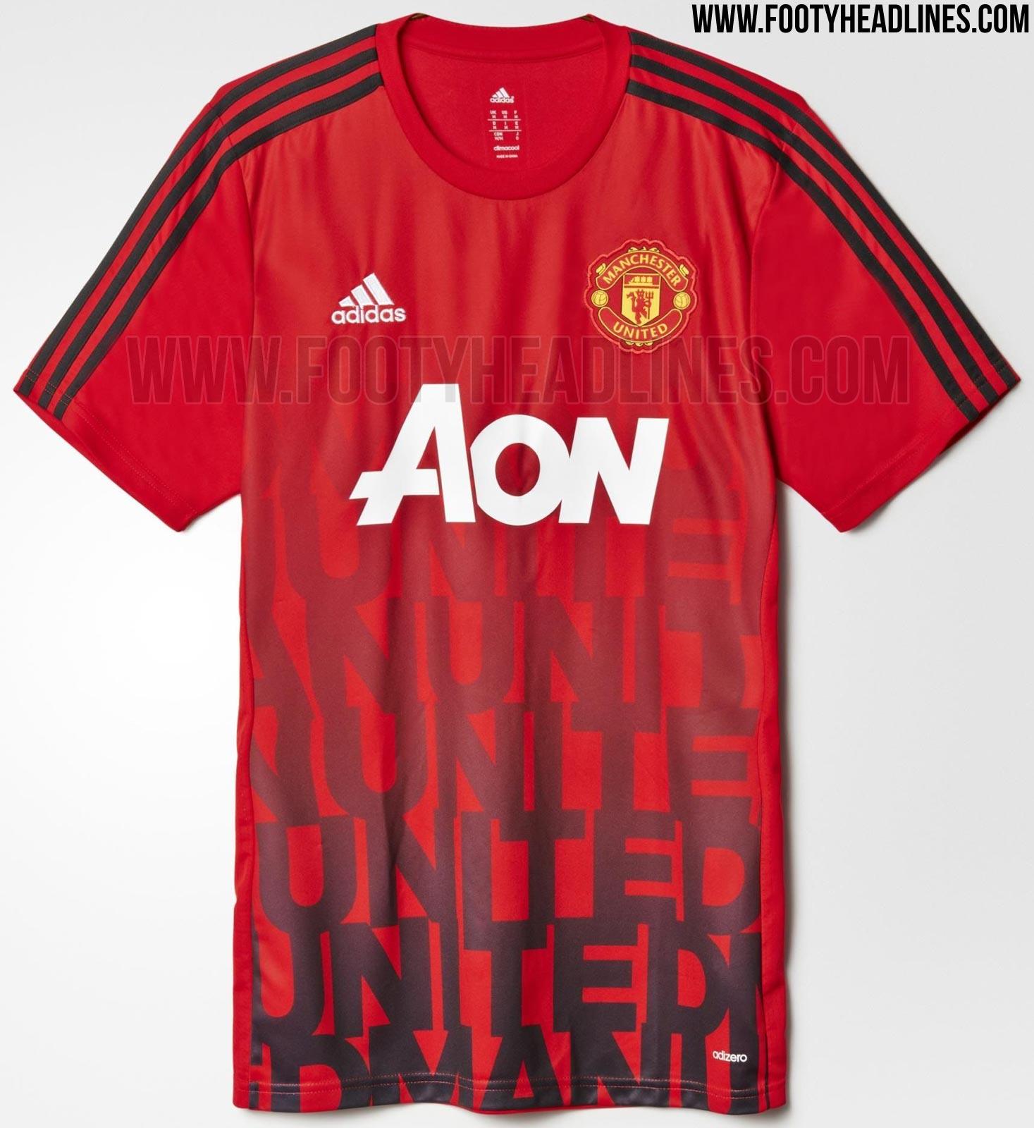 Man Utd 2016 Pre-Match Shirt