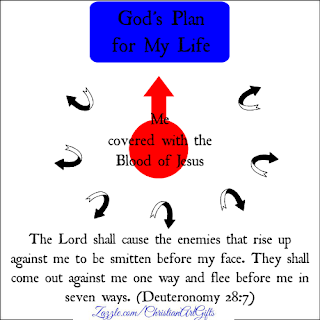 The Lord shall cause the enemies that rise up against me to be smitten before my face.  They shall come out against me one way and flee before  me in seven ways. Deuteronomy 28:7