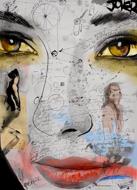 Loui Jover Ink Drawings - Art People