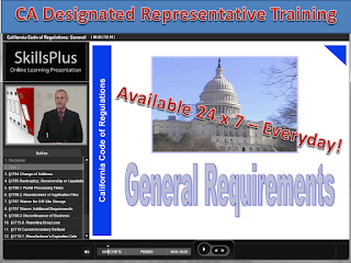 California Designated Representative Training Courses (wholesaler, 3PL, reverse distributor) - Approved by the California State Board of Pharmacy