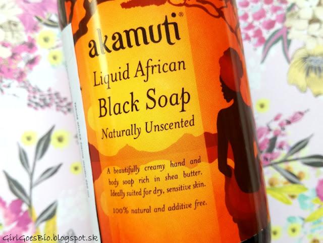 Akamuti liquid african black soap for dry and sensitive skin