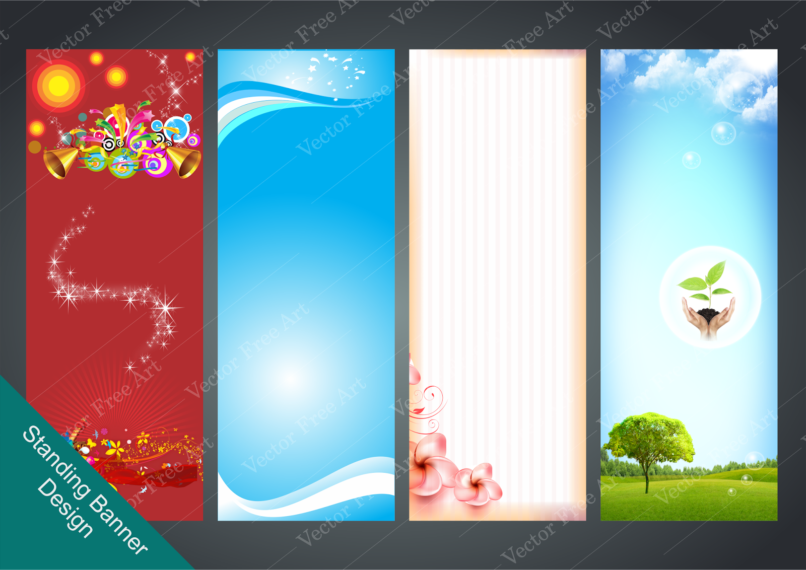 Simple Standing Banner 05 Vector Standing Banner Template