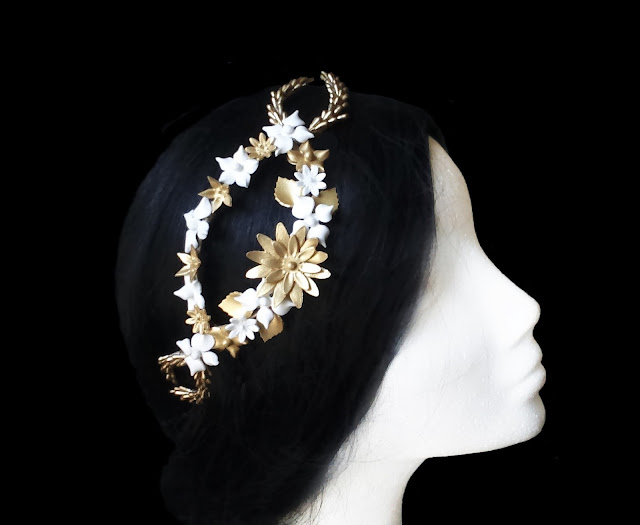 Tocado Novia Porcelana · Bridal Porcelain Headpiece