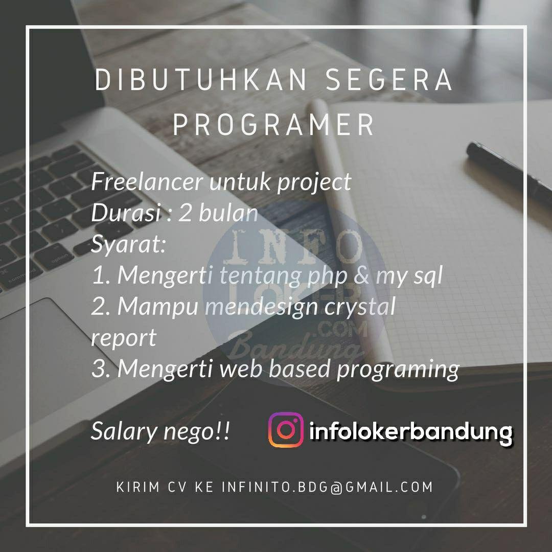 Lowongan Kerja Freelance Programer Infinitoculinery Bandung Maret 2018