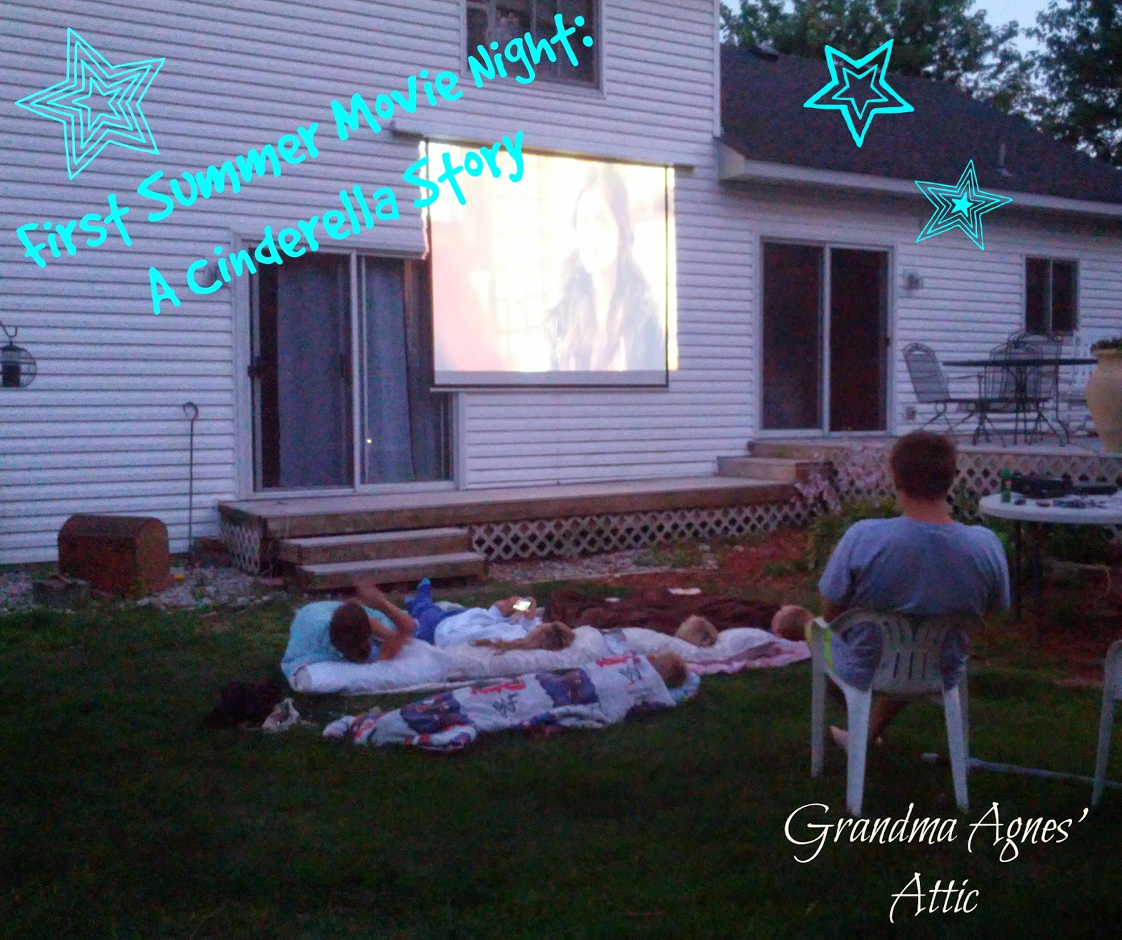 outdoor movie screen in your own backyard