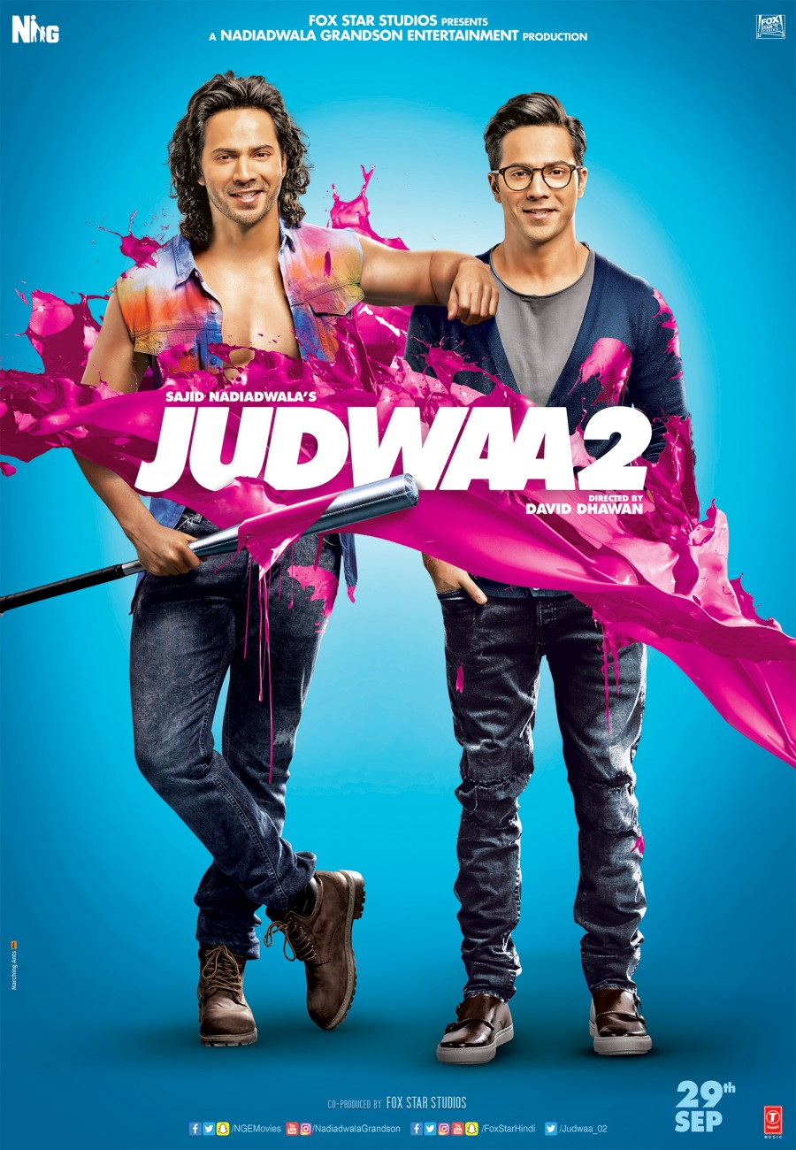 Prem and Raja strike a pose in this new poster of Judwaa 2