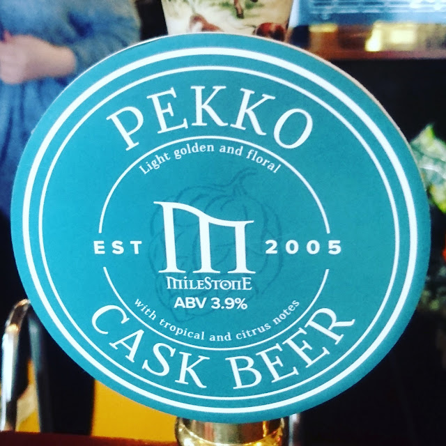 Nottinghamshire Craft Beer Review: Pekko from Milestone Brewing real ale pump clip