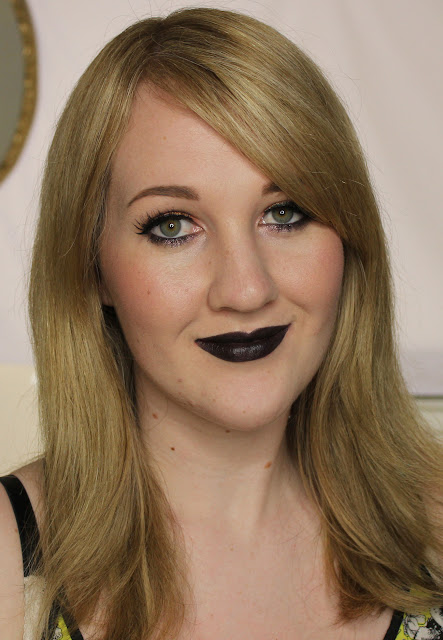 LA Girl Matte Flat Velvet Lipstick - Raven Swatches & Review