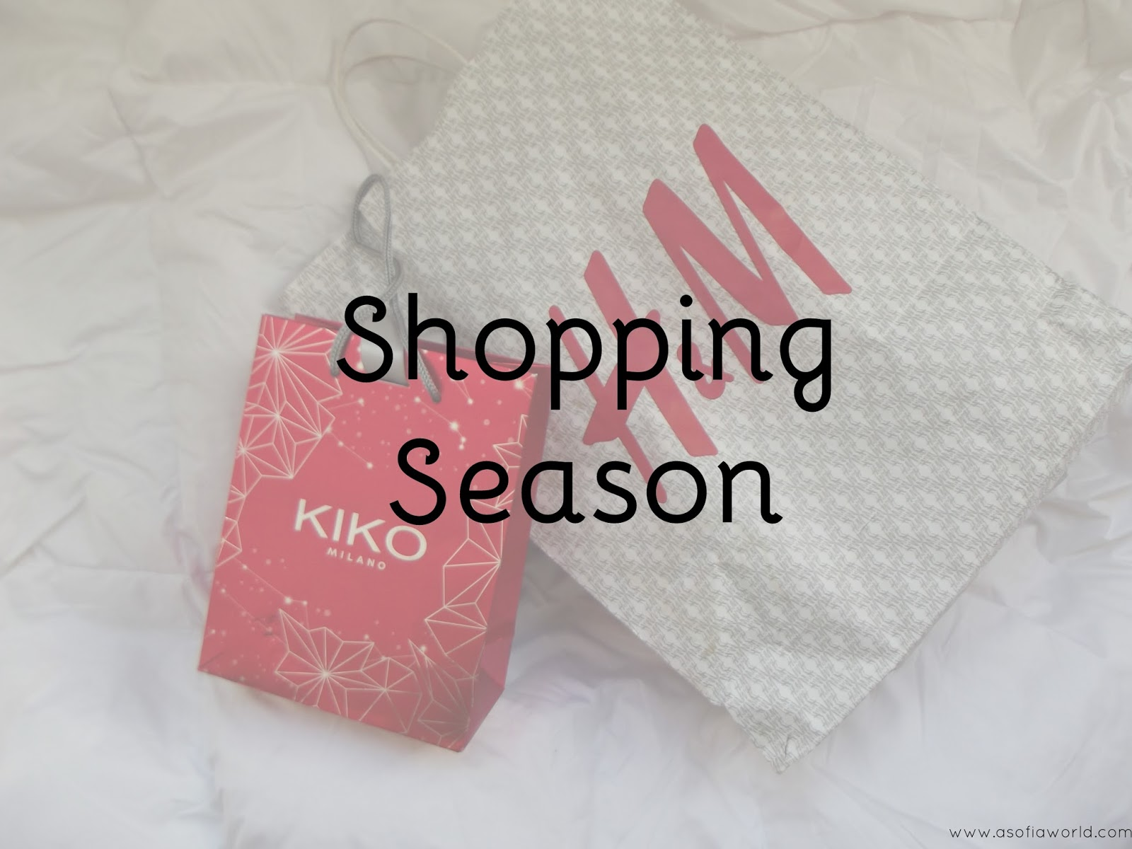 Shopping season chegou, viu, gastou.