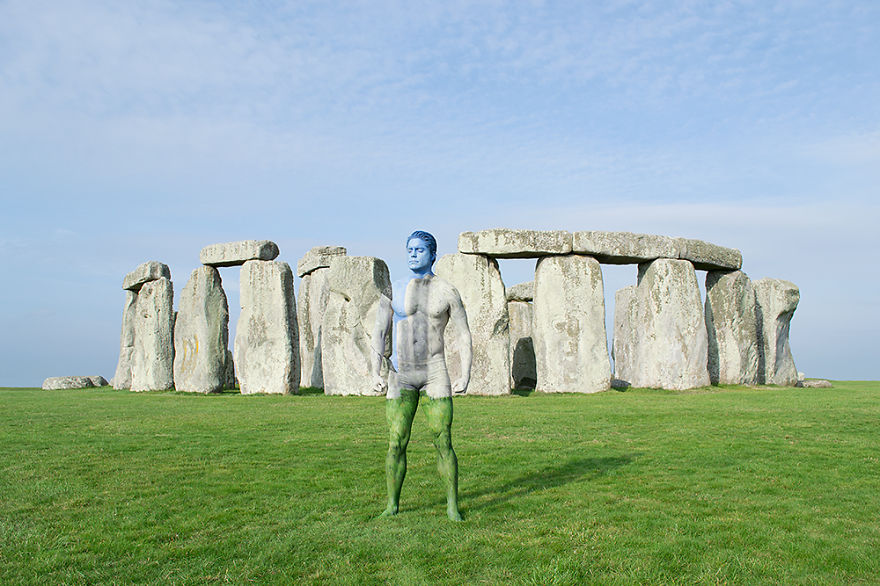 03-Stonehenge-UK-Trina-Merry-Architecture-meets-Body-Painting-in-Lost-in-Wonder