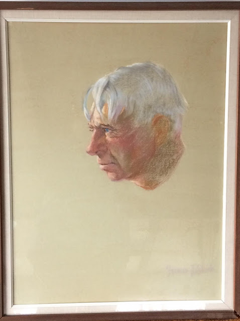 Carl Sandburg Pastel Portrait by Francis Quirk  Probably a study for the oil portrait.