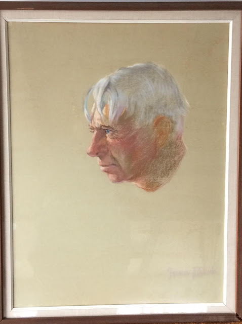 Carl Sandburg Portrait by Francis Quirk A Better image of the Pastel Study