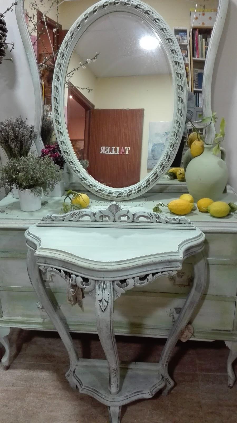 Muebles Reciclados Vintage Beautiful Coiffeuse Vintage Vert Dueau  # Muebles Dominguez