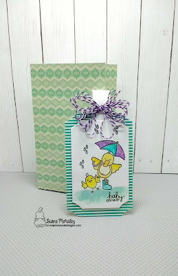 Baby Shower a tag by Diane Morales - Spring Showers Stamp Set - Newton Nook Designs