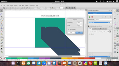 Create long shadow effect on inkscape