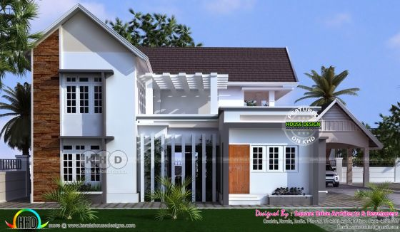 4 bedroom 3000 square feet mixed roof residence
