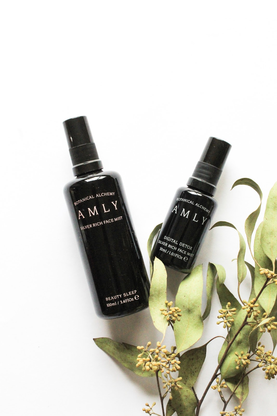 Amly Botanicals Beauty Sleep and Digital Detox Silver Rich Face Mists